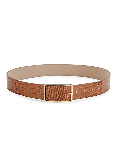 A simple goldtone buckle lends a timeless element to this sleek leather belt embossed with a croco print Goldtone hardware Leather/zinc Clean by a leather specialist Made in Italy SIZE Width, about 1.5. Soft Accessorie - Belts > Saks Fifth Avenue > Barneys. B-Low The Belt. Color: Cognac Gold. Size: 70 (XS).
