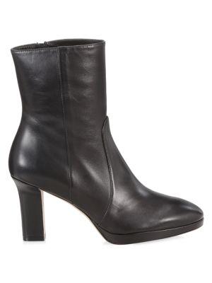 Stuart Weitzman Women's Rosalind Leather Booties In Black