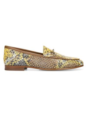 Sam Edelman Loafers Loraine Python-Embossed Leather-Blend Loafers