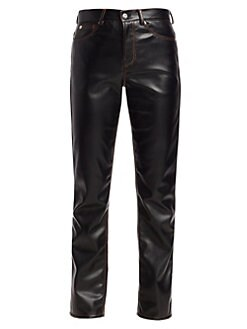 f987cf206721b Faux Leather Straight Pants BLACK. QUICK VIEW. Product image