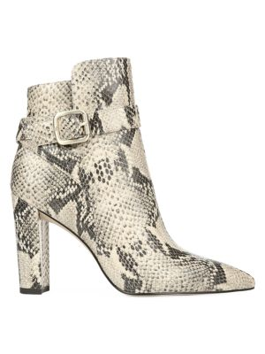 official photos 8e6ee fe74e Rita Snakeskin-Embossed Leather Ankle Boots