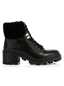 e6e18b4ed22ed Hettie Shearling Leather Hiking Boots BLACK. QUICK VIEW. Product image