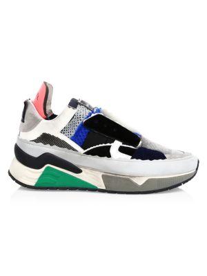 Diesel Brentha Deconstructed Mixed Media Sneakers