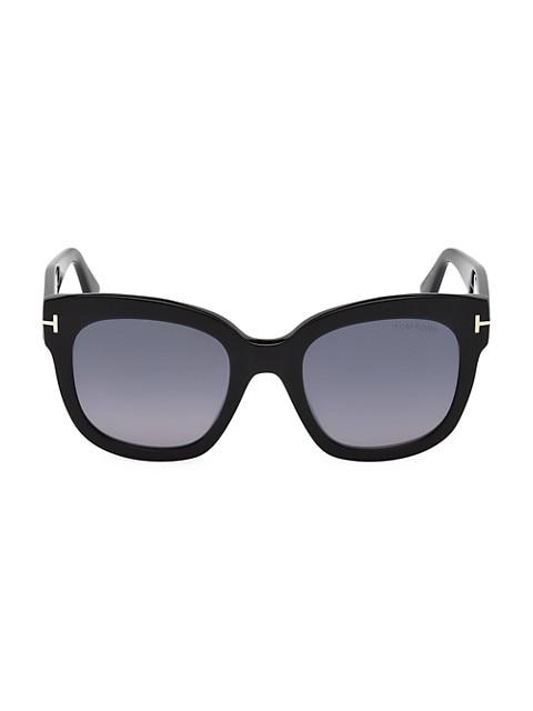 Beatrix 52MM Polarized Lens Oversize Square Sunglasses