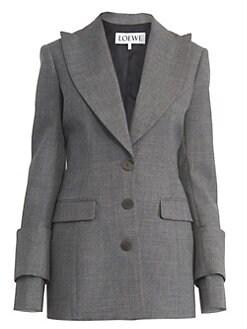 761224b33141 Loewe - Winged Lapel Wool Jacket
