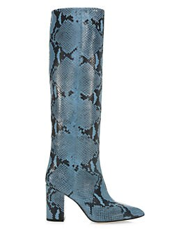 05016a344ce7e Paris Texas. Knee-High Python-Embossed Leather Boots
