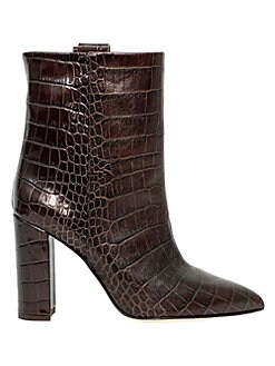 571e9409c Paris Texas. Croc-Embossed Leather Ankle Boots