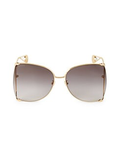 8ec7eda8bbe8 63MM Round Sunglasses GOLD. QUICK VIEW. Product image. QUICK VIEW. Gucci