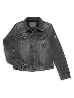 4acf004c8e2 Girl's Star Denim Jacket BLACK. QUICK VIEW. Product image