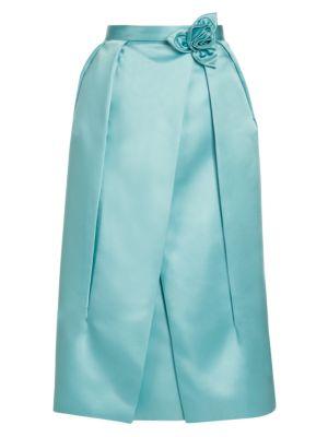 Prada Duchesse Satin Technical Petal Skirt
