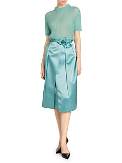 409c044e33 Prada. Duchesse Satin Technical Petal Skirt