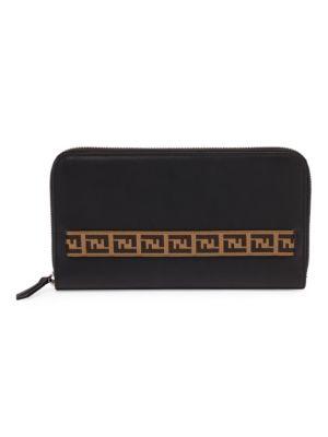 Fendi Grace Leather Travel Wallet