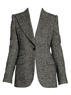 9bc0a08c Dolce & Gabbana - Single Button Tweed Wool-Blend Blazer