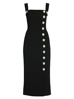 f8e59070 Dolce & Gabbana - Sleeveless Button Detail Midi Dress