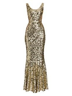 3a77cae7 QUICK VIEW. Dolce & Gabbana. Sleeveless Sequin Gown