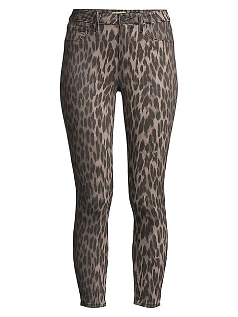 Margot High-Rise Ankle Skinny Leopard-Print Jeans
