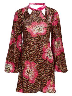 Rixo Dalia Silk Backless Tunic