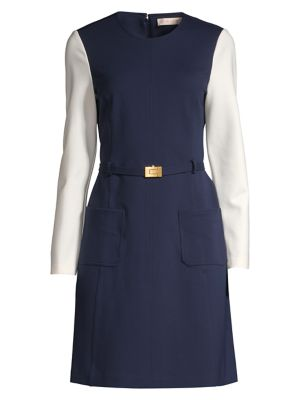Tory Burch Colorblock Ponte A Line Dress