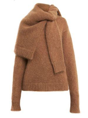 Rokh Double Shoulder Wrap Sweater