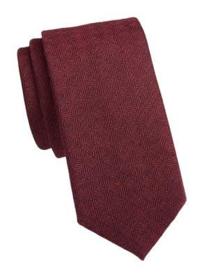 COLLECTION Diamond Wool & Silk Tie