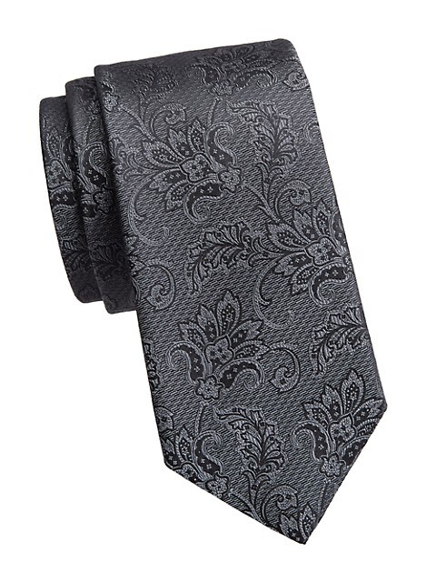 COLLECTION Formal Floral Jacquard Silk Tie