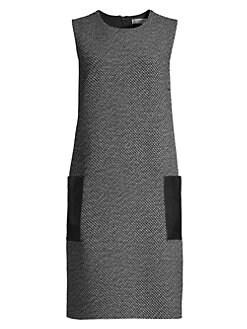 3c30185c5c6b Perim Sleeveless Tweed Shift Dress BLACK. QUICK VIEW. Product image