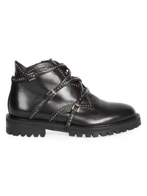 Alaïa Studded Leather Ankle Boots