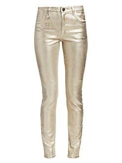 66cb8a34602 QUICK VIEW. J Brand. Maria High-Rise Metallic Skinny Jeans
