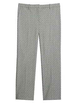 7a2bf146d3 Product image. QUICK VIEW. Theory. Textured Tailored Crop Trousers