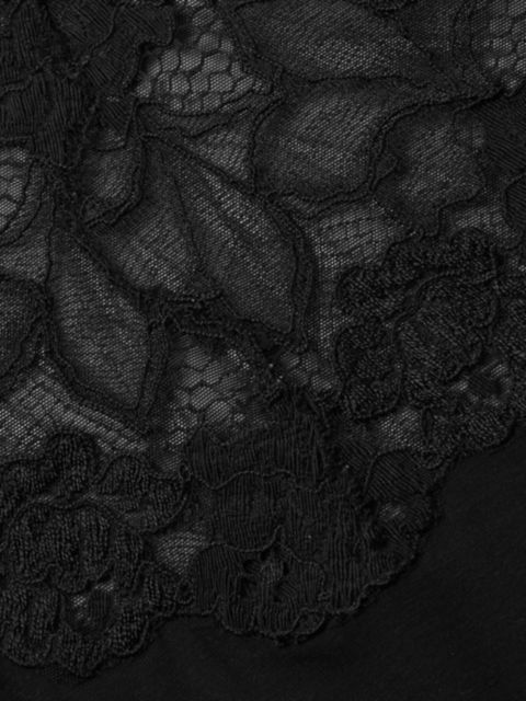 Josie Natori Rose Parfait Essentials Lace-Trim Bodysuit   SaksFifthAvenue