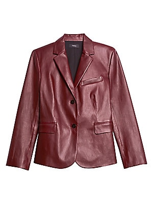 Classic Leather Shrunken Jacket by Theory