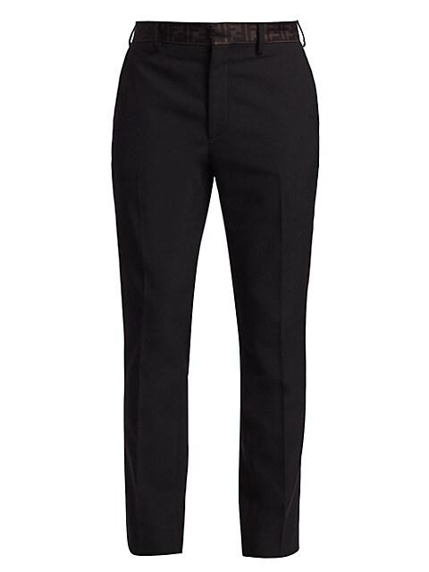 Wool & Organza FF Dress Pants