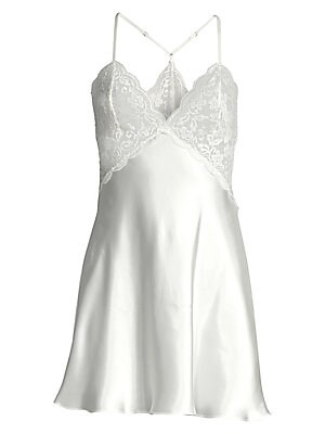 Say Yes Lace & Satin Chemise by In Bloom