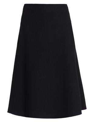 S Gettie Virgin Wool & Angora A Line Skirt