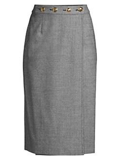 9d5125f147 QUICK VIEW. Escada. Ratascha Tweed Button Pencil Skirt