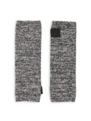 Carolyn Rowan Cashmere Tweed Fingerless Gloves In Heather Grey