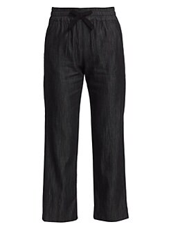 6bc587e5f4d4db Rimmel Chambray Cropped Pants BLACK. QUICK VIEW. Product image