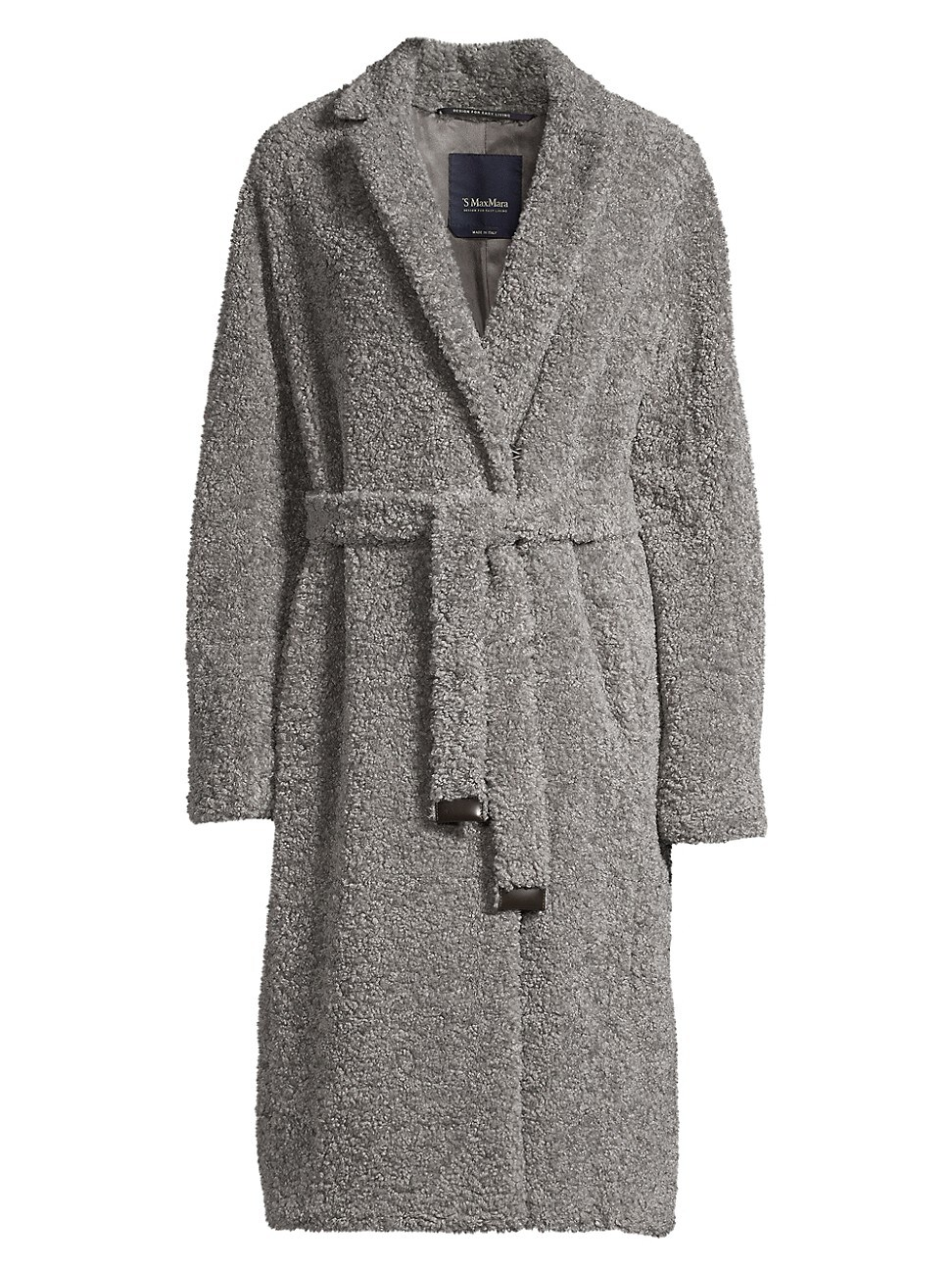 MAX MARA WOMEN'S AGIATO FAUX-SHEARLING BELTED COAT