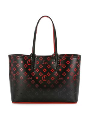 Christian Louboutin Women's Small Cabata Ombré Printed Tote In Black