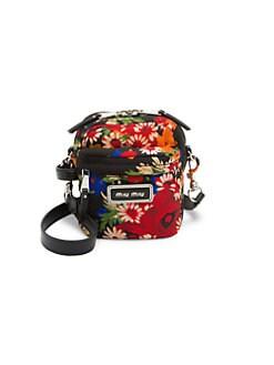 6716bcdcec1 QUICK VIEW. Miu Miu. Small Floral Crossbody Bag
