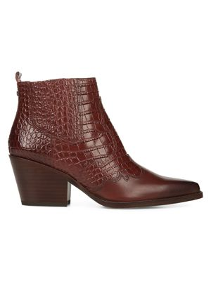 Sam Edelman Boots Winona Croc-Embossed Ankle Boots
