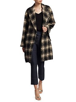 7a190f84fc5 IRO. Karsh Plaid Double-Breasted Coat
