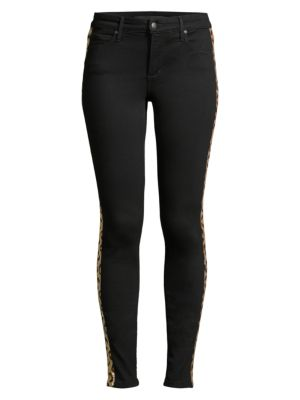 Joe S Jeans Charlie High Rise Sequin Leopard Stripe Ankle Jeans