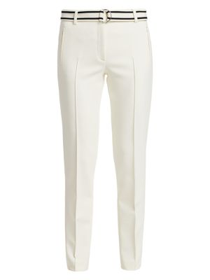 Akris Punto Fabia Stripe Belt Pants