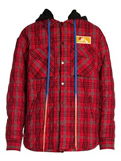 7ced689cf Off-White. Flannel Overshirt Jacket