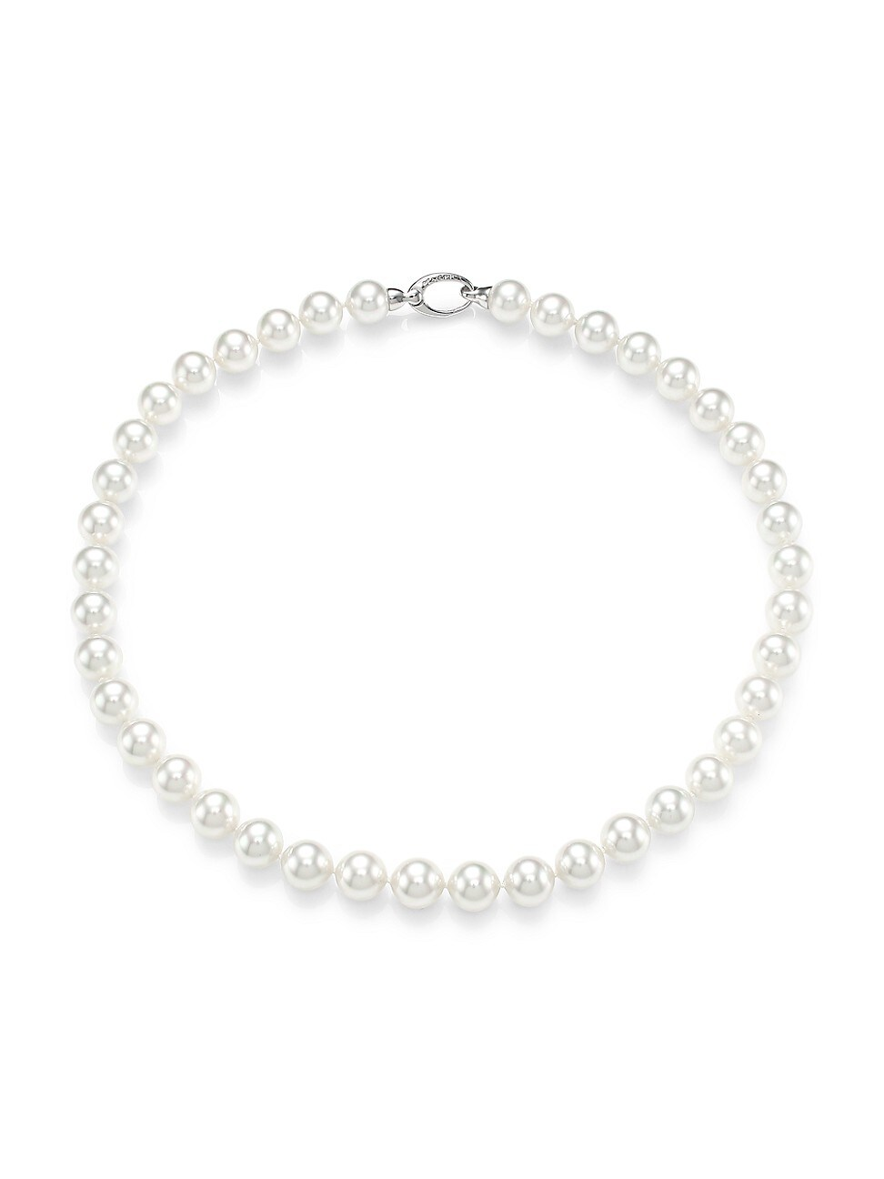 Majorica WOMEN'S 10MM WHITE ORGANIC MAN-MADE PEARL NECKLACE