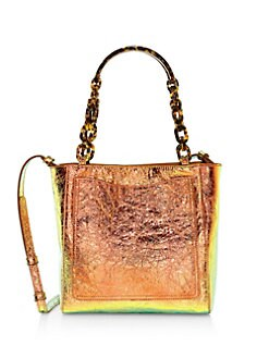 326c45a3418 Edie Parker. Mini Iridescent Leather Tote
