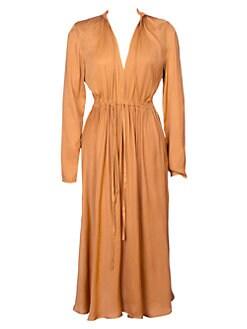 d93c6e8d1a Product image. QUICK VIEW. Maje. Rouge Pleated Drawstring Midi Dress