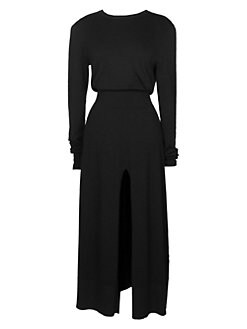 463e76f03638 QUICK VIEW. Maje. Rolland Popover Midi Dress