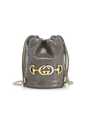 Mini Zumi Python Bucket Bag